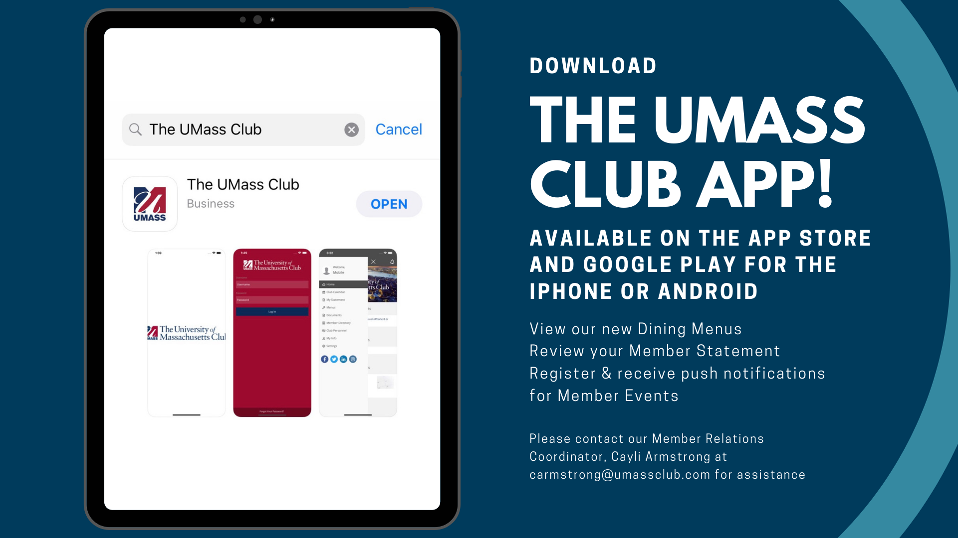 The UMass Club App
