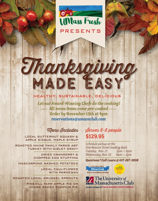 thanksgiving umass dining